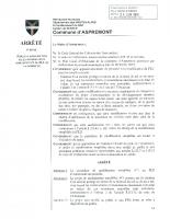 Arrêté relatif à la modification simplifiée n°1 du PLU