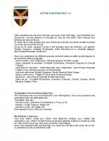 Lettre d'info n°1 (Juin 2020)