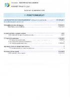 RAPPORT du Budget Primitif 2021