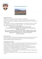 Lettre d'info n° 3 (juillet 2021)